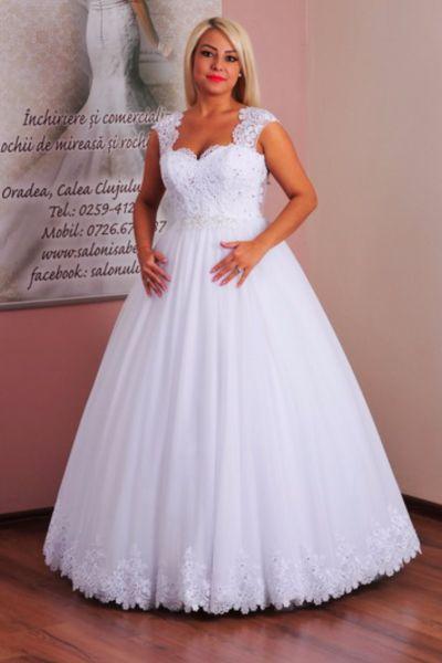 Rochie de mireasa Anamaria alb