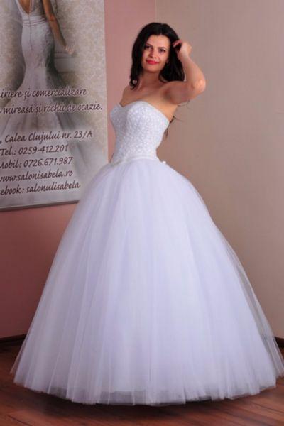 Rochie de mireasa Mioara alb