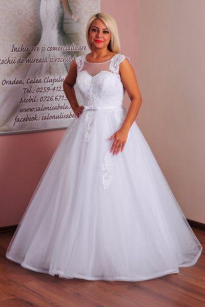 Rochie de mireasa Anastasia alb