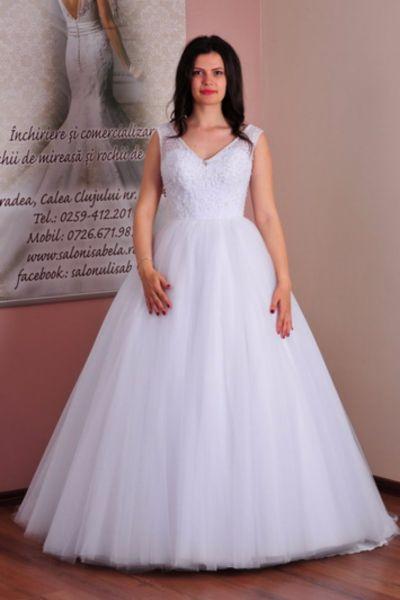 Rochie de mireasa Erika alb